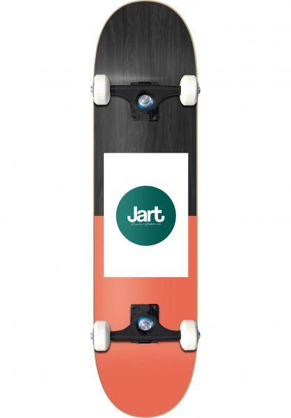 JART Skateboard komplett Frame orange-black Vorderansicht