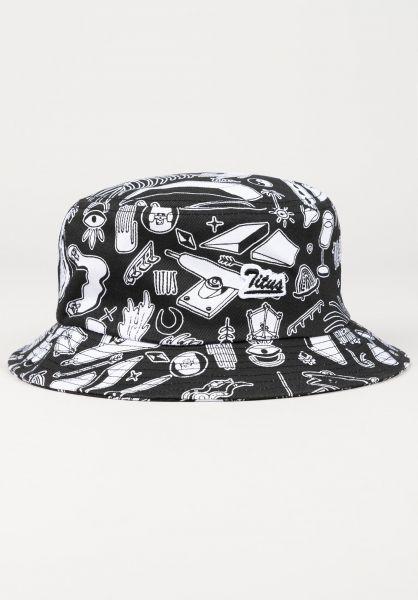 TITUS Hüte Script Bucket black-ao-pattern vorderansicht 0580406