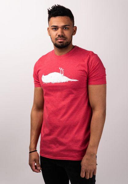 Atticus T-Shirts Bird heatherred vorderansicht 0370254