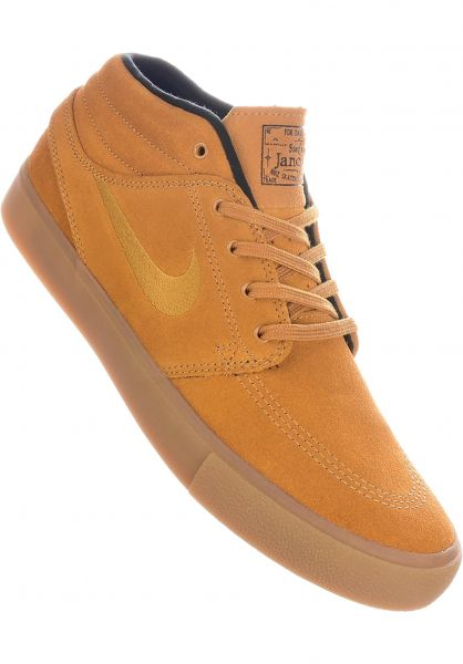 authorized site exclusive range sports shoes Zoom Stefan Janoski Mid RM Nike SB All Shoes in wheat-black-gum ...