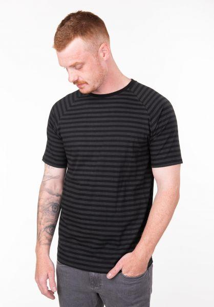 TITUS T-Shirts Tobias darkgrey-striped vorderansicht 0397475