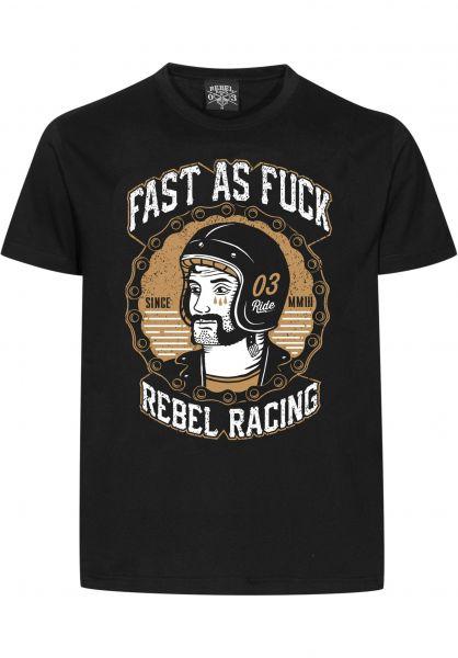 Rebel Rockers T-Shirts FAF black Vorderansicht
