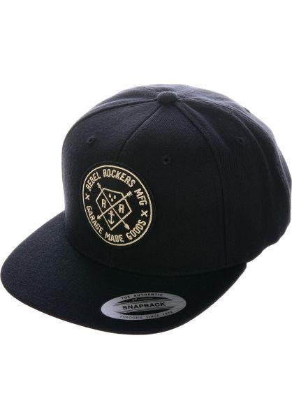 Rebel Rockers Caps Penta black vorderansicht 0566074