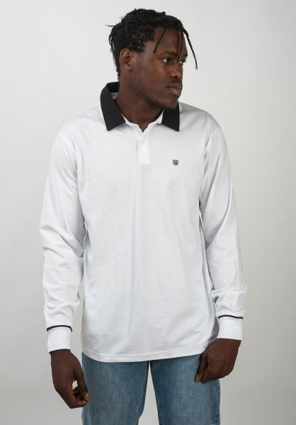 Brixton Polo-Shirts Carlos white-black vorderansicht 0138401