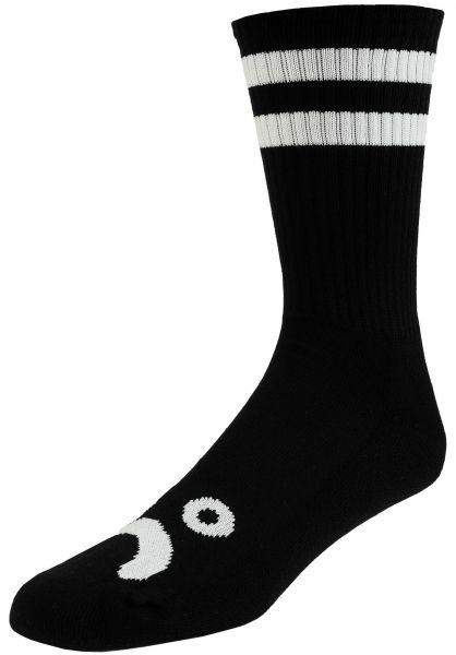 Polar Skate Co Socken Happy Sad Classic Crew black vorderansicht 0632020