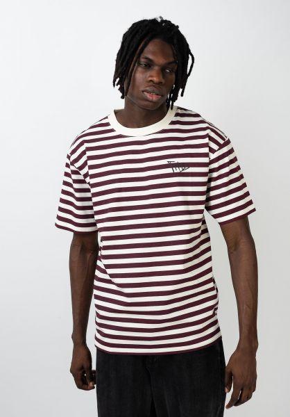 TITUS T-Shirts Kenny offwhite-darkburgundy vorderansicht 0399471