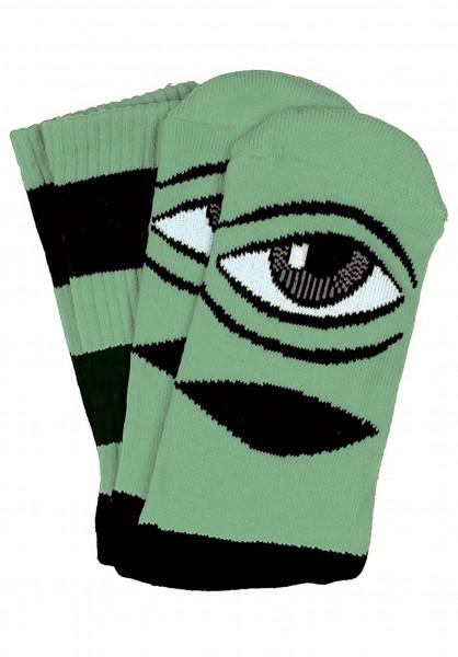 Toy-Machine Socken Sect Eye Big Stripe mint Vorderansicht