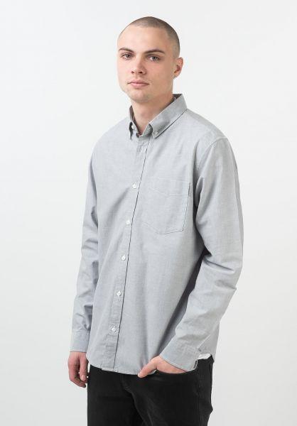 Carhartt WIP Hemden langarm Button Down Pocket shiver vorderansicht 0411530