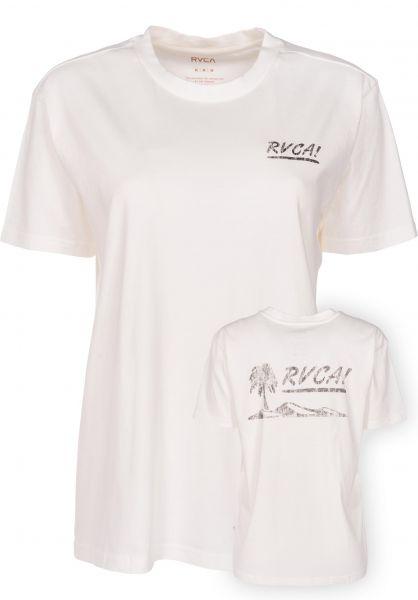 RVCA T-Shirts Deserted antique-white Vorderansicht