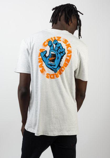 Santa-Cruz T-Shirts Santa Cruz Scream athleticheather vorderansicht 0320039