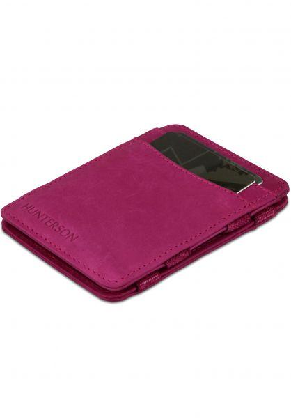 Hunterson Portemonnaie Magic Wallet RFID raspberry vorderansicht 0781046