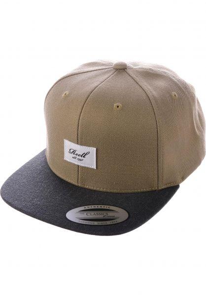 Reell Caps Pitchout 6-Panel khaki-charcoal vorderansicht 0564483