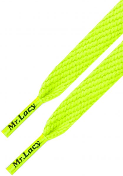 Mr. Lacy Schnürsenkel Flatties Junior neon-lime-yellow vorderansicht 0640009