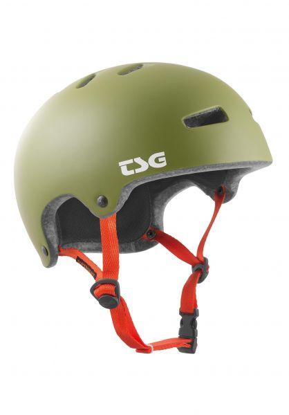 TSG Helme Superlight Solid Color II satin olive vorderansicht 0750136