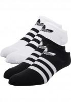 adidas Socken Trefoil Liner black-white Vorderansicht
