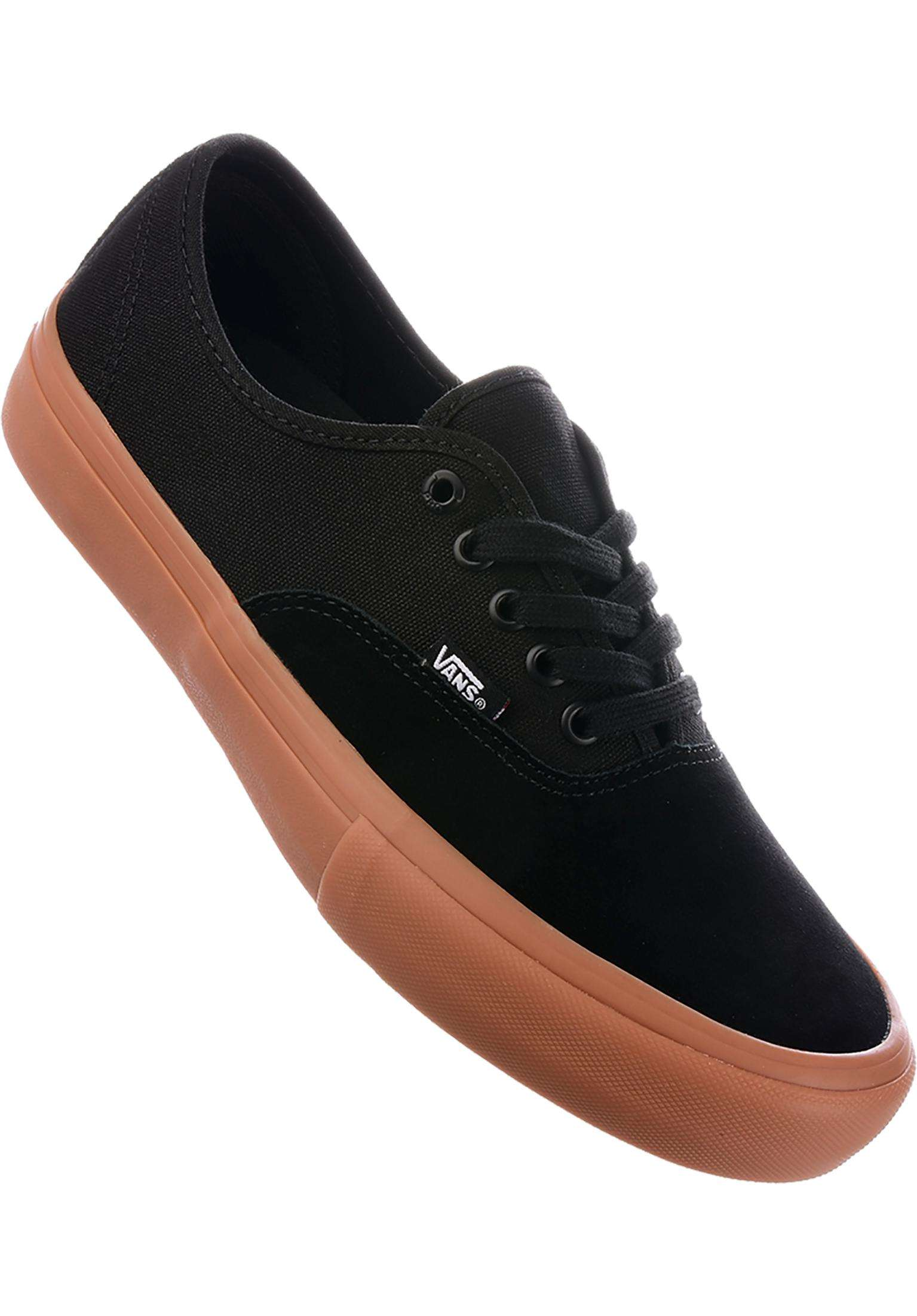 cdab543343 Authentic Pro Vans All Shoes in black-gum for Men