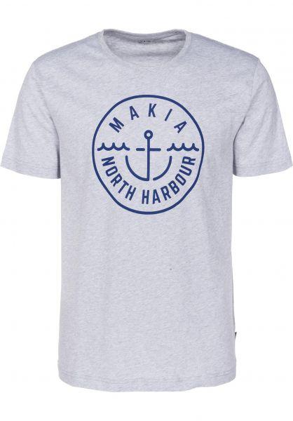 Makia T-Shirts Crown lightgrey Vorderansicht