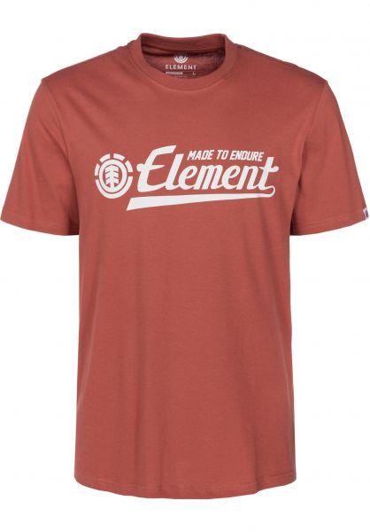 Element T-Shirts Signature etruscanred vorderansicht 0393060