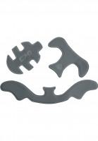 TSG Diverse Schoner Adult Helmet Pad Kit HS Flextech cement grey Vorderansicht