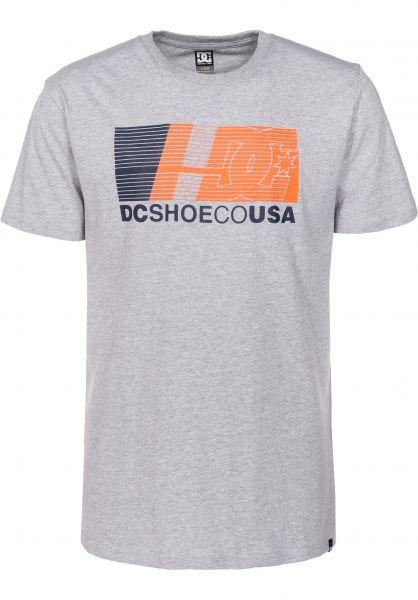 DC Shoes T-Shirts High Value heathergrey Vorderansicht