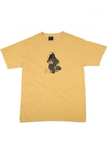 Pizza Skateboards T-Shirts Rodeo Pigment Dyed mustard vorderansicht 0321810