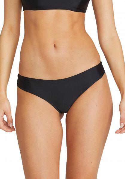 Volcom Beachwear Simply Solid Cheekini Bikini-Bottom black vorderansicht 0205451