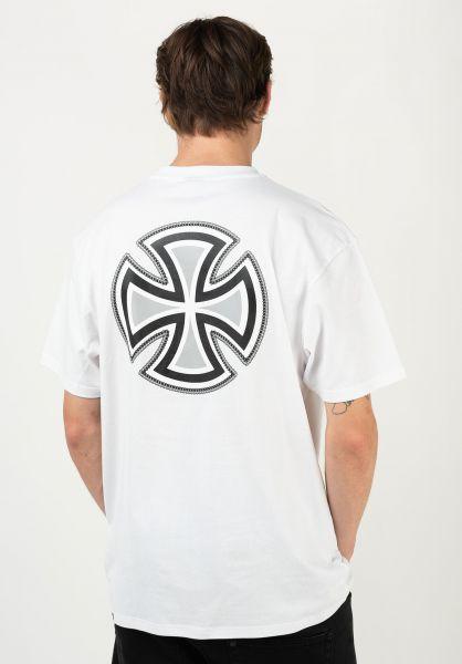 Independent T-Shirts Rebar Cross white vorderansicht 0322546