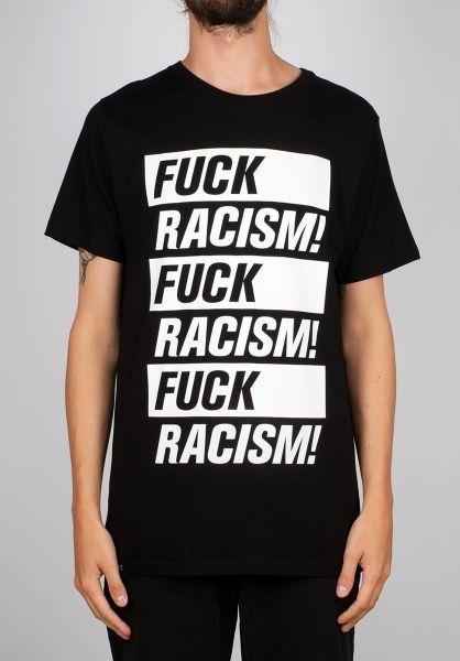 Dedicated T-Shirts Stockholm Fuck Racism black vorderansicht 0399377