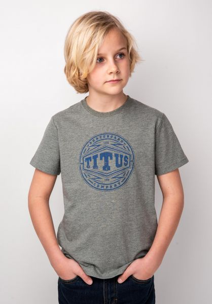 TITUS T-Shirts Filter Kids greenmottled vorderansicht 0398387