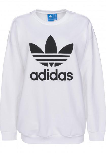 adidas Sweatshirts und Pullover Trefoil Sweat white Vorderansicht