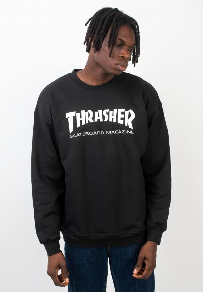 Thrasher Sweatshirts und Pullover Skate-Mag Crewneck black vorderansicht 0042429