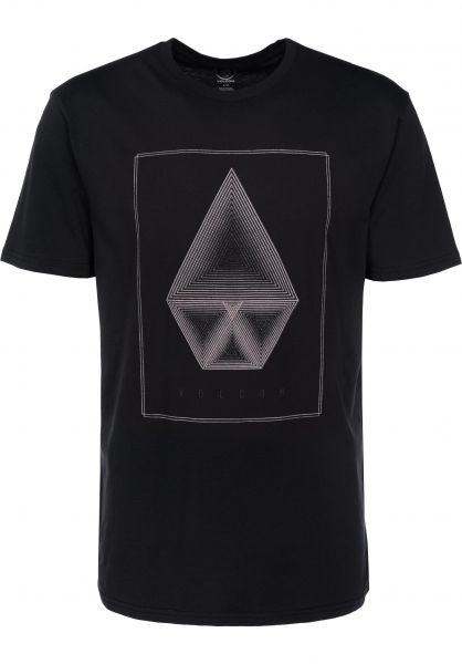 Volcom T-Shirts Concentric black Vorderansicht