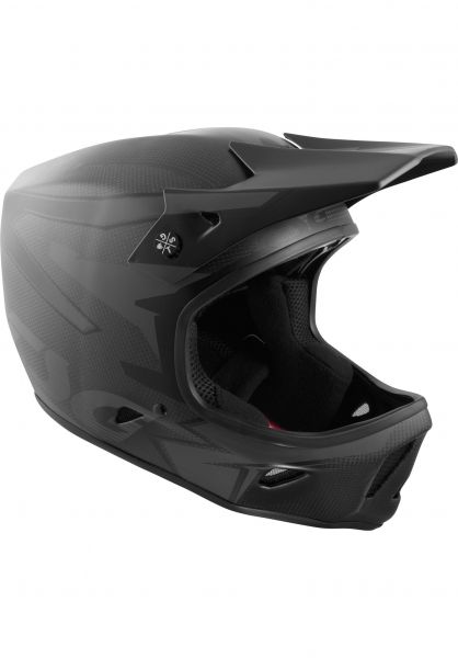TSG Fullface-Helme Advance Carbon Graphic Design streak-black Vorderansicht