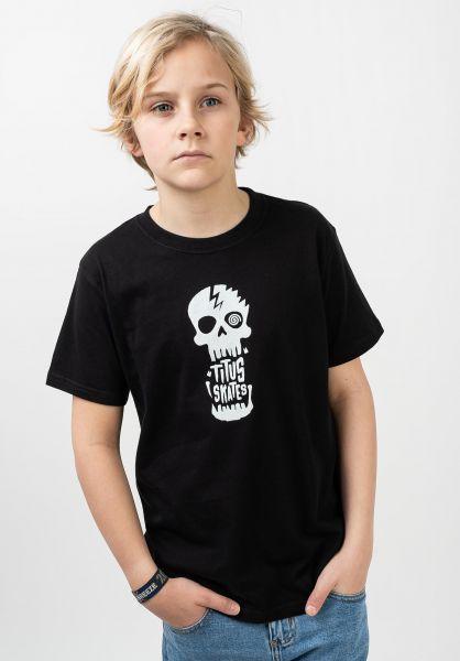 TITUS T-Shirts Tamaro Kids black-white vorderansicht 0321017