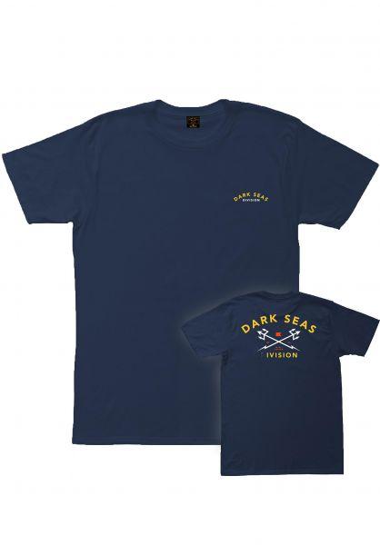 Dark Seas T-Shirts Headmaster navy-gold vorderansicht 0396609