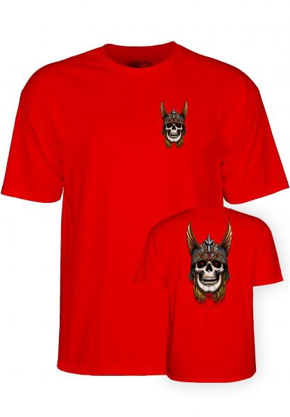 Powell-Peralta T-Shirts Andy Anderson Skull red vorderansicht 0321018