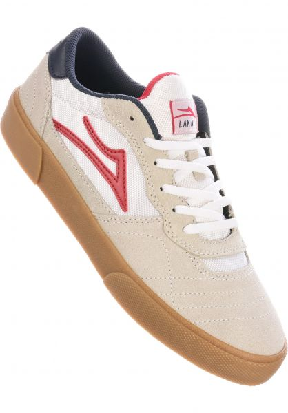 Lakai Alle Schuhe Cambridge white-red-gum vorderansicht 0604604