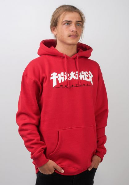 Thrasher Hoodies Godzilla red vorderansicht 0445441