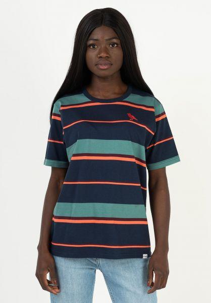 Cleptomanicx T-Shirts Coasting darknavy vorderansicht 0322798