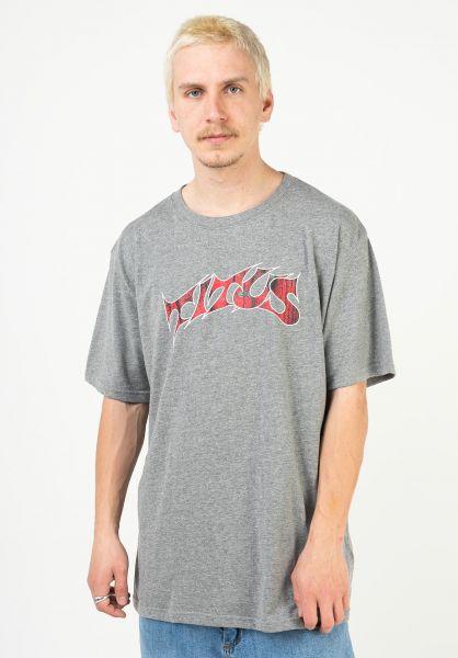 TITUS T-Shirts Schranz greymottled vorderansicht 0373578