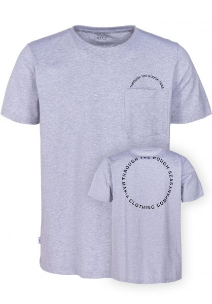 Makia T-Shirts Ring Pocket lightgrey vorderansicht 0383344