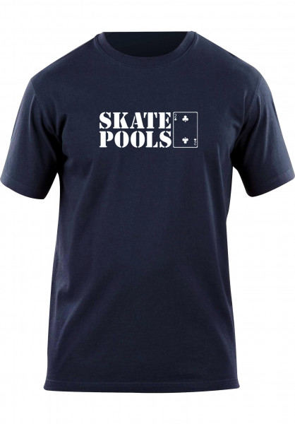 Lowcard T-Shirts Skate Pools navy Vorderansicht