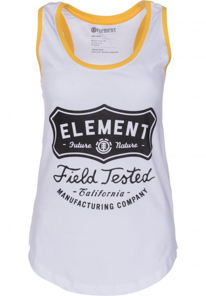 Element Tops Test Tank white Vorderansicht