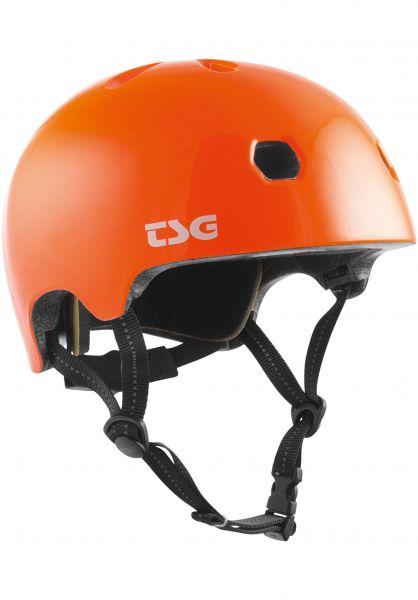 TSG Helme Meta Solid Color gloss orange vorderansicht 0750123