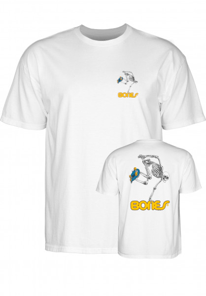 Powell-Peralta T-Shirts Skateboard Skeleton white Vorderansicht