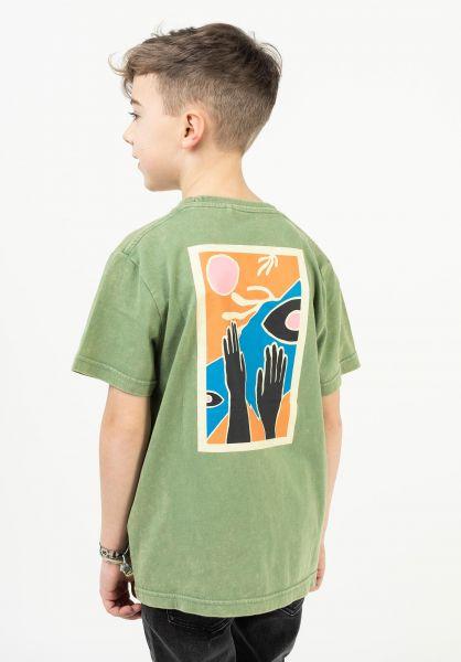TITUS T-Shirts Bautista Kids green-acidwashed vorderansicht 0322726