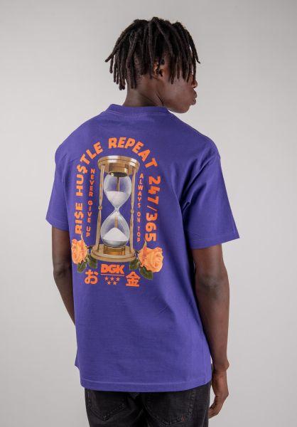 DGK T-Shirts No Time purple vorderansicht 0320276