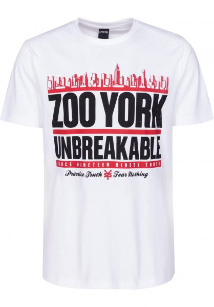 Zoo York T-Shirts Run DMZoo white Vorderansicht