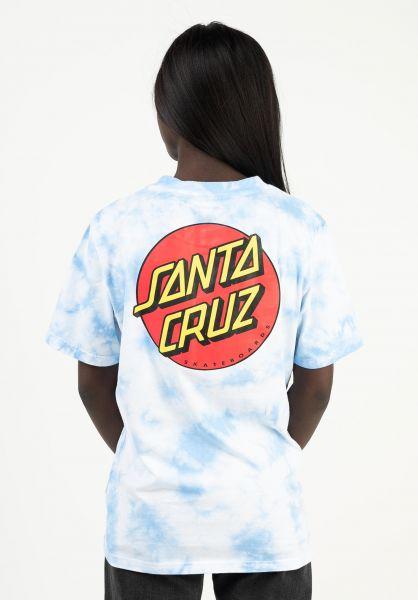 Santa-Cruz T-Shirts Classic Dot crystal-blue vorderansicht 0397010
