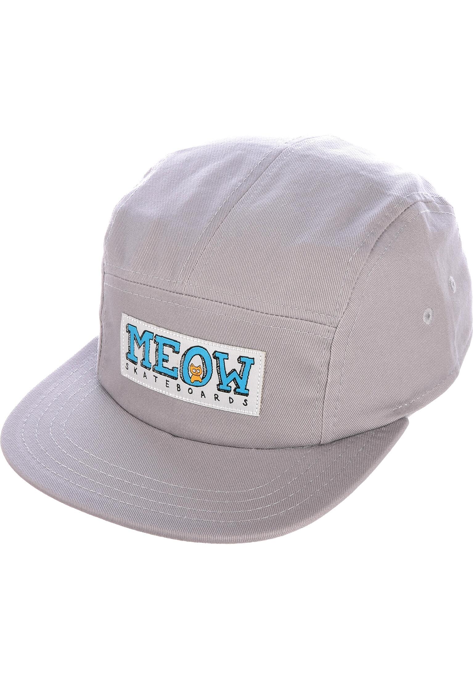 05215b2725543 Logo 5 Panel Meow Skateboards Caps in grey for Men